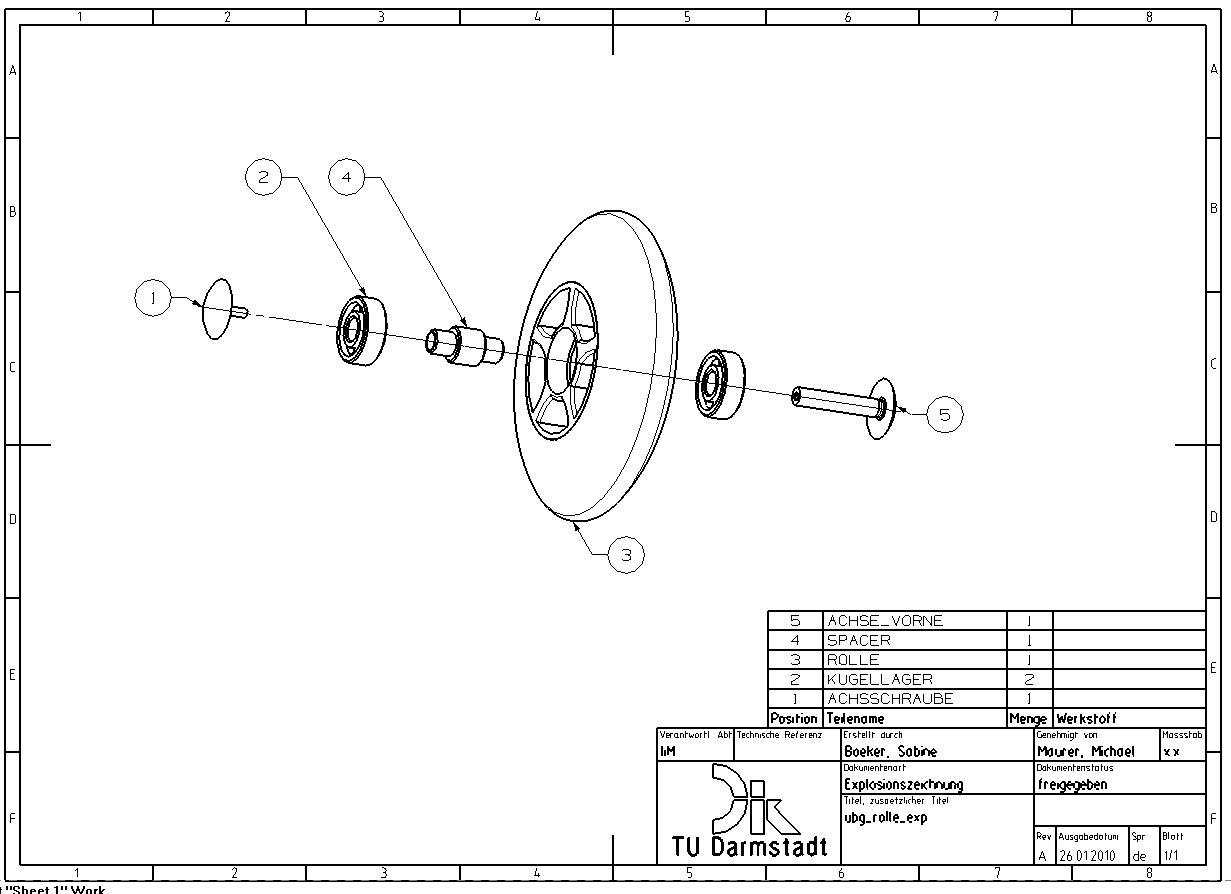7.3.2 Explosionsdarstellung mit Stückliste und Positionsnummern anpassen
